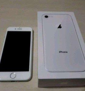 Продам/обменяю iPhone 8 silver 64 gb