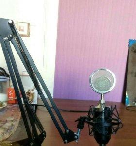 Микрофон BM-8000 со стойкой
