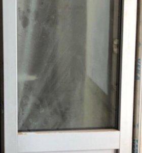 Металлоконструкция балконная дверь