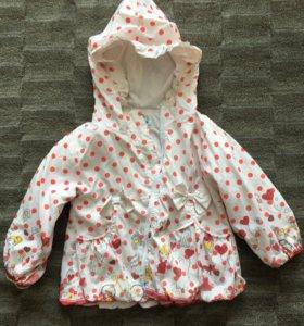 Детская куртка (ветровка) для девочки