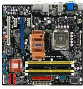 Материнская плата с процессором + память 8 гб