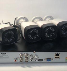 Комплект видеонаблюдения из 4 камер