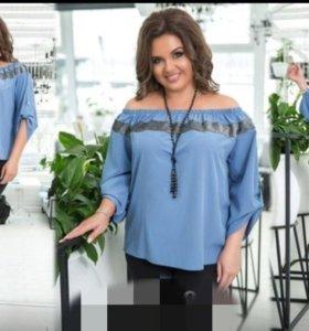 Блузка женская больших размеров 50-60 р