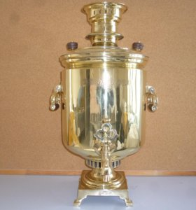Трактирный угольный самовар Баташева 15 литров