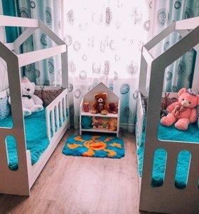 Детская, кровать домик