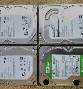 Жесткий диск HDD 2000 Гб Sata для видеонаблюдения