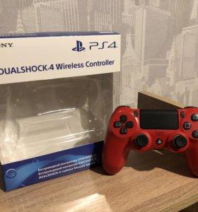 Геймпад DualShock 4 v2 (red/красный)
