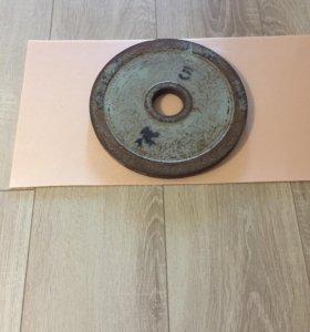 Блин стальной 5 кг