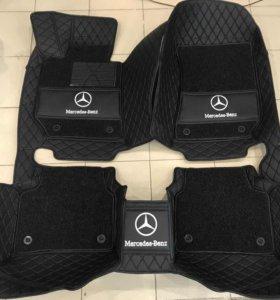 3D автоковрики премиум класса Mercedes E 350 W 212