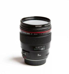 Объектив Canon 35 mm 1.4 L