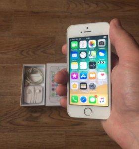 Айфон 5s,Silver,16Gb RU/A оригинал(полный комплект