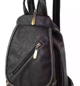 Рюкзак чёрный унисекс новый