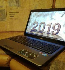 Мощный 4х ядерный Core i5 ноутбук Asus 4гб/500гб