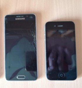 Samsung galaxy a3 2016 и iPhone 4s 16gb