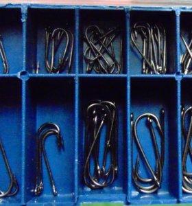 Набор крючков для рыбалки 10 видов размер 3 - 12