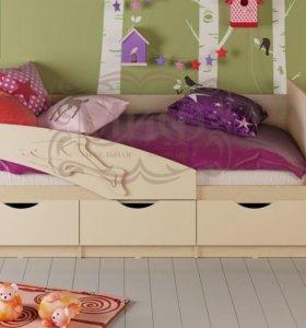 Детская кровать «Дельфин» мдф 1,6 в ассортименте
