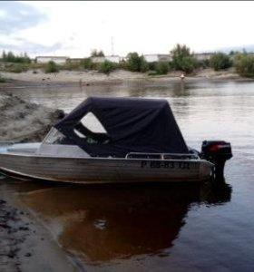 Вельбот 45 с мотором tohatsu 40 л.с