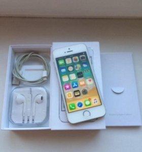 iPhone 5s,Silver,16Gb (полный комплект)с отпечатко
