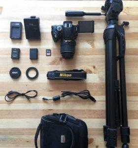 Nikon D5100 + аксессуары