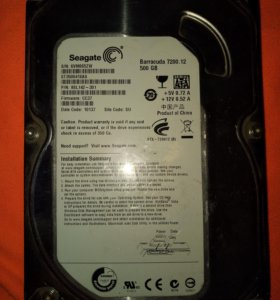 Seagate ST3500418AS 500GB На запчасти.