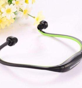 Bluetooth наушники + mp3 плеер + радио