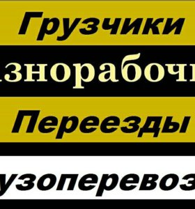 Услуги грузчиков,разнорабочих,мастер на дом