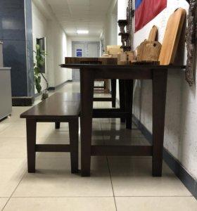 Стол и лавочки комплект