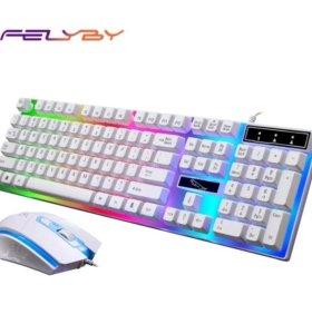 Новая игровая клавиатура felyby G21 + мышь
