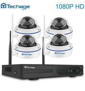 Новый Беспроводной/Wi-Fi комплект видеонаблюдения