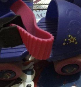 Ролики четырех колесные раздвижные для малышей