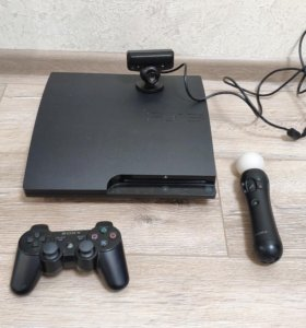 Ps3+PS move + 4 игры