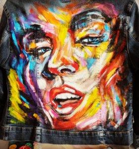 Роспись джинсовых курток