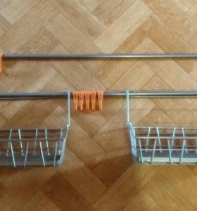 Кронштейн для кухни + корзинки и крючки