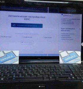 Ноутбук K61IC Asus (Требуется поменять экран)
