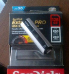 Флешка Sandisk Extreme pro usb 3.0 128gb