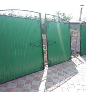 Ворота с калиткой дворовые