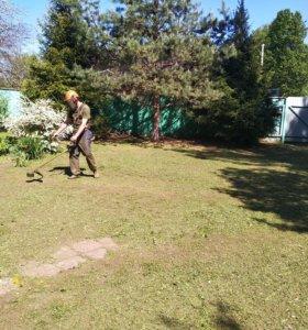Покос травы,Перекопка огорода