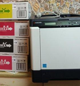 Принтер цветной лазерный Kyocera FS-C5250DN
