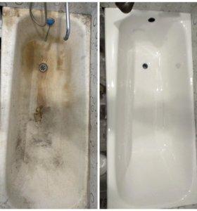 Реставрация ванн, обновление эмали