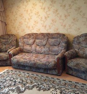 Шикарная мягкая Мебель 2 дивана и 2 кресла