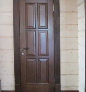 Надежная дверь из массива дерева