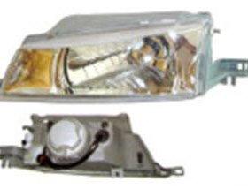 Фара правая тюнинг прозрачная под корректор внутри хромированная (Китай) на Дэу Нексия 1 поколение / Daewoo Nexia - 1 поколение (1995-2008)