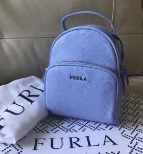 Рюкзак Furla кожа голубой новый