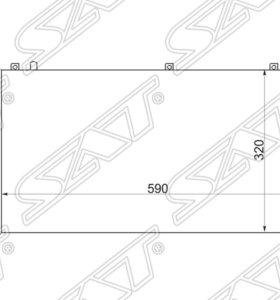 Радиатор AUDI 80 92-96 1.6/1.8/2.0