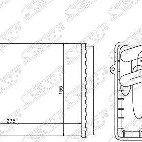 Радиатор отопителя салона AUDI 80 86-96/A4/S4 94-/SKODA SUPERB 02-/ VW PASSAT 96-/ PASSAT 00-