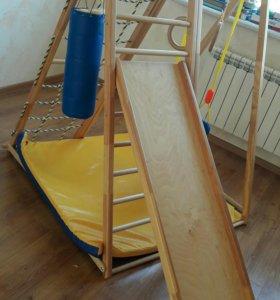 Детский спорт комплекс с горкой