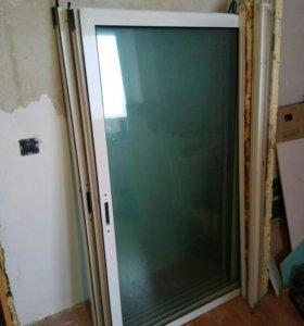 Окна на лоджию раздвижные, рамы алюминиевые