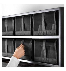 ИКЕА СКУББ Коробка для обуви, черный, 22x34x16 см