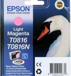 картридж Epson Original T0816 Light Magenta.