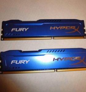 Kingston Hyper X Fury 16 gb DDR3 1866 mhz